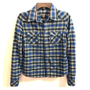Blue & Yellow Plaid Flannel